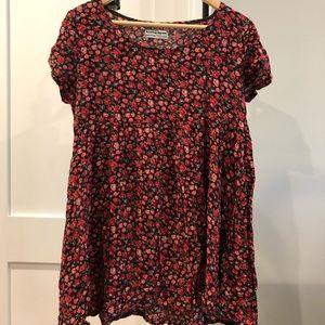 American Apparel Floral Rayon Babydoll Dress